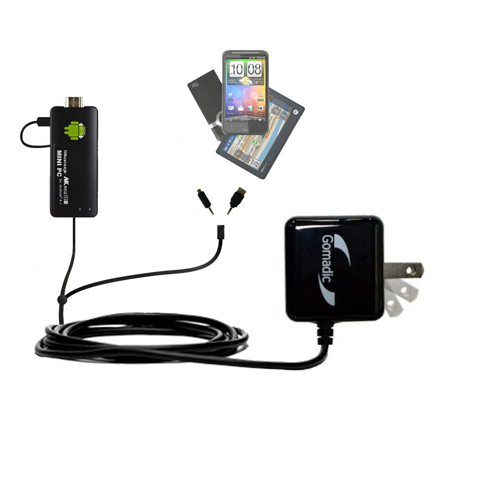 Double Wall Home Charger with tips including compatible with the Android MK802 Plus