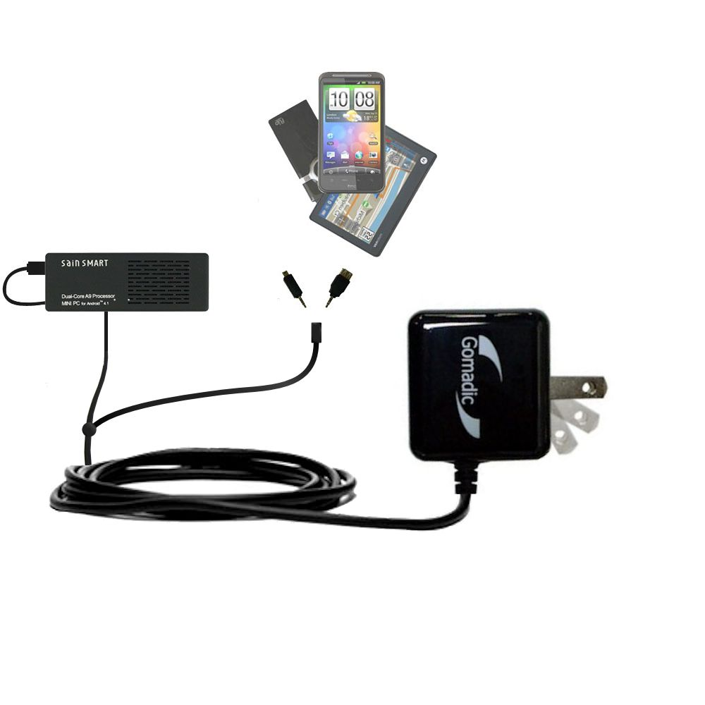 Double Wall Home Charger with tips including compatible with the Android SainSmart SS808 PC-On-A-Stick