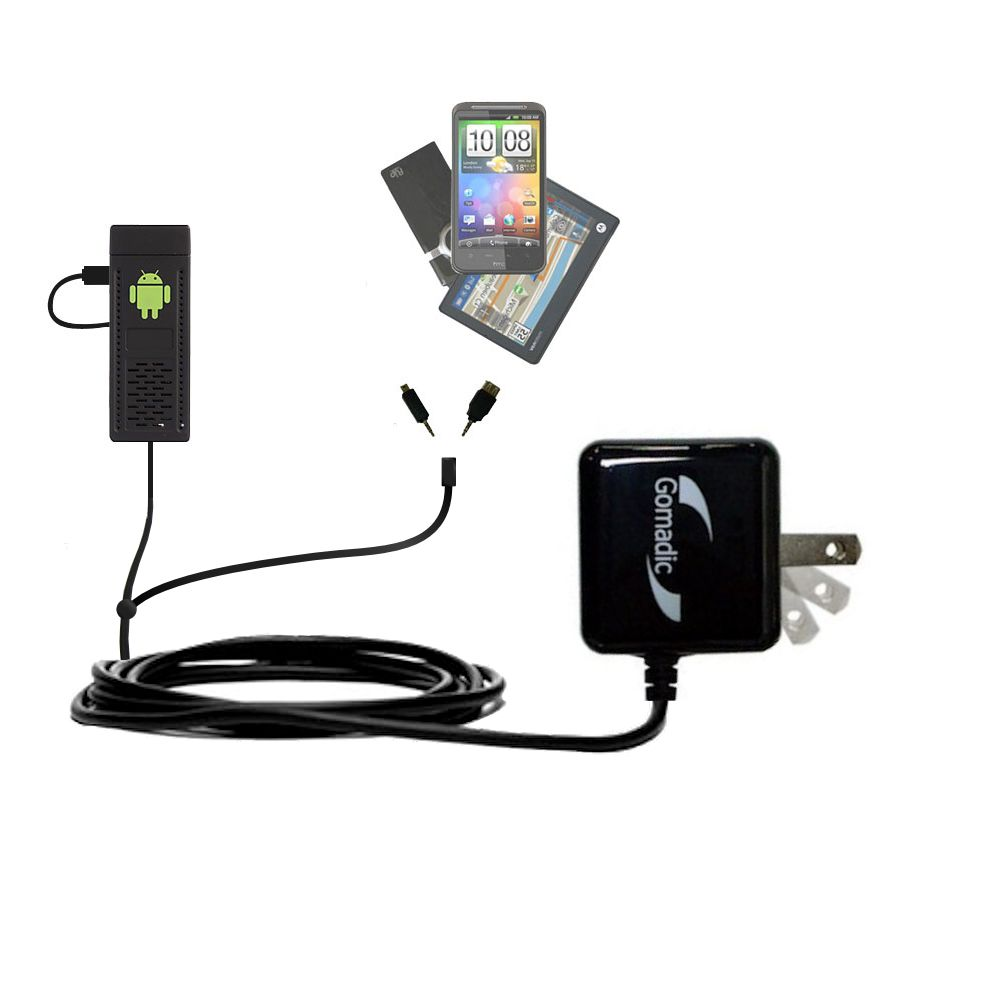 Double Wall Home Charger with tips including compatible with the Android UG802 Mini PC