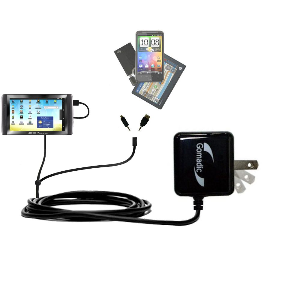 Double Wall Home Charger with tips including compatible with the Archos 70 / 70b Titanium