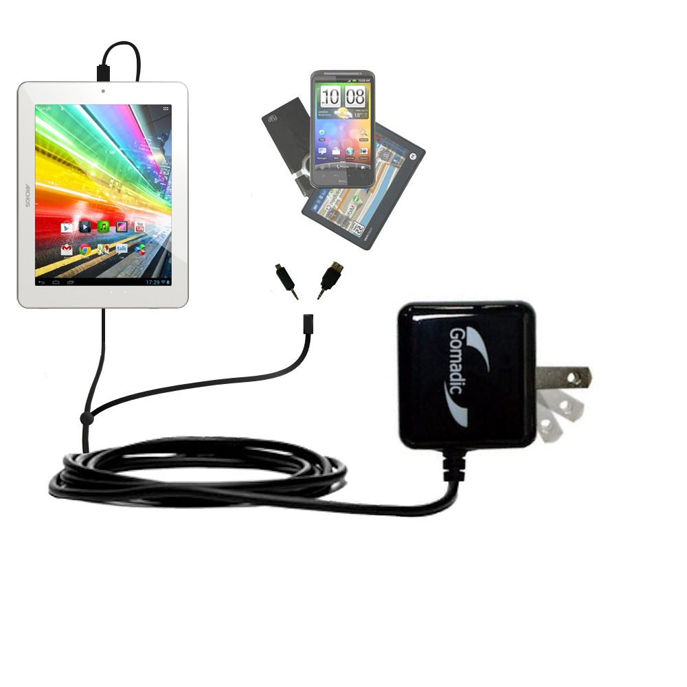 Double Wall Home Charger with tips including compatible with the Archos 80b Platinum