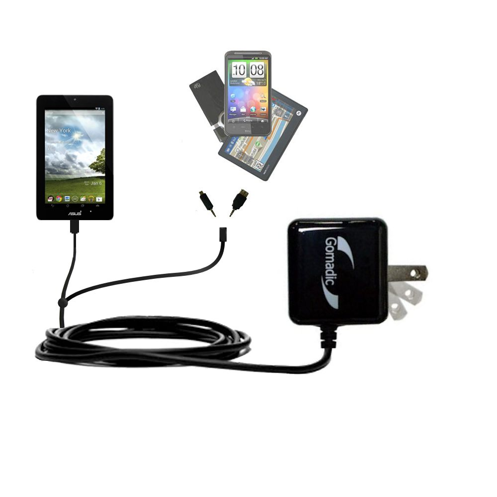 Double Wall Home Charger with tips including compatible with the Asus FonePad