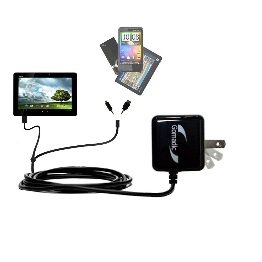 Double Wall Home Charger with tips including compatible with the Asus MeMo Pad Smart 10