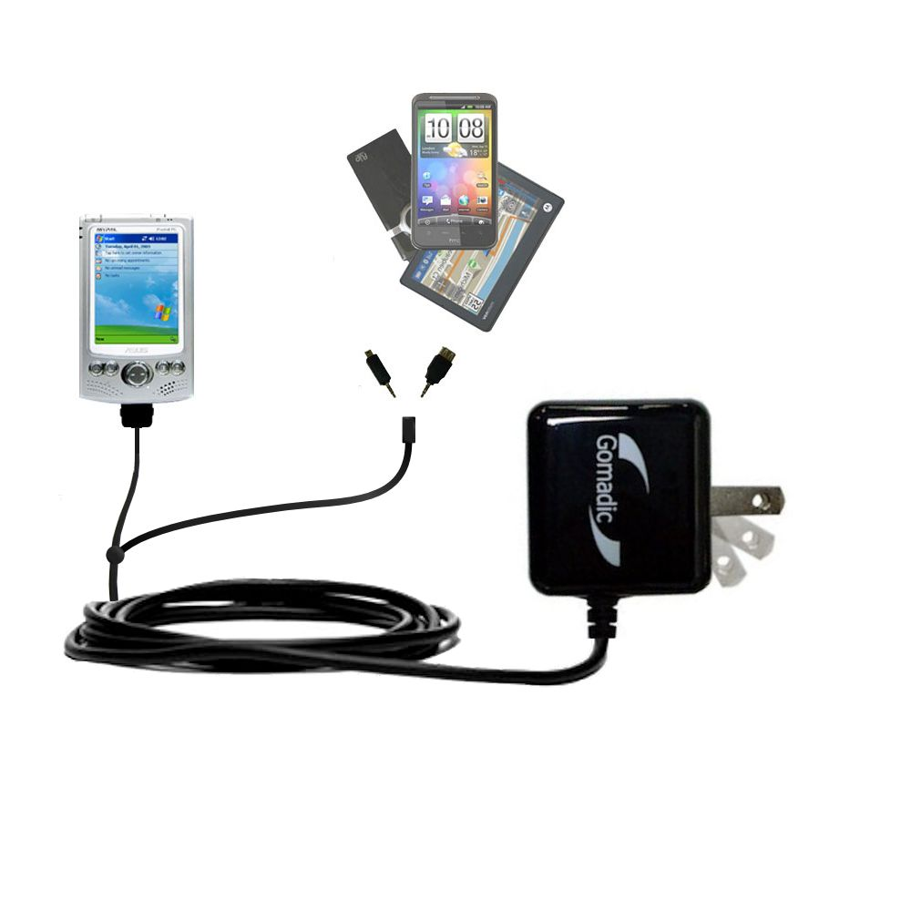 Double Wall Home Charger with tips including compatible with the Asus MyPal A620BT