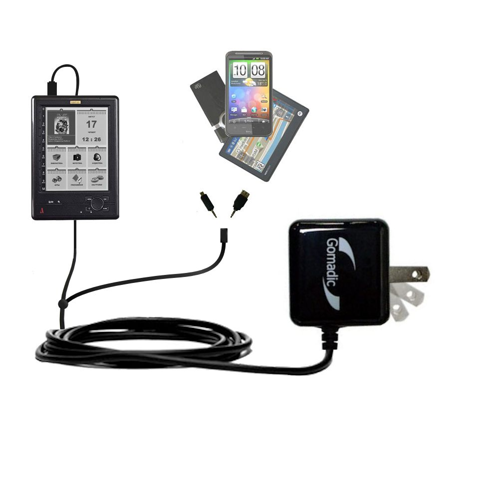Double Wall Home Charger with tips including compatible with the Azbooka N516