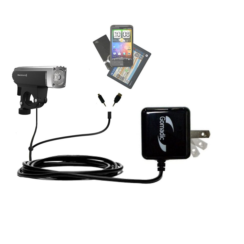 Double Wall Home Charger with tips including compatible with the Blackburn Central Front