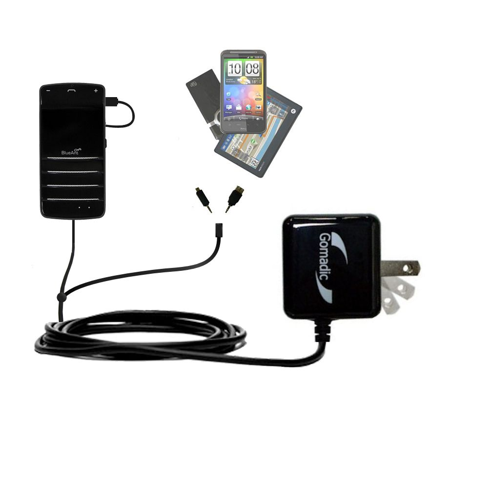 Double Wall Home Charger with tips including compatible with the BlueAnt COMMUTE