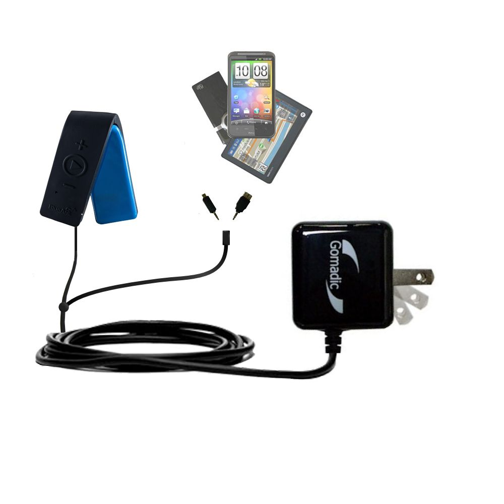 Double Wall Home Charger with tips including compatible with the BlueAnt RIBBON