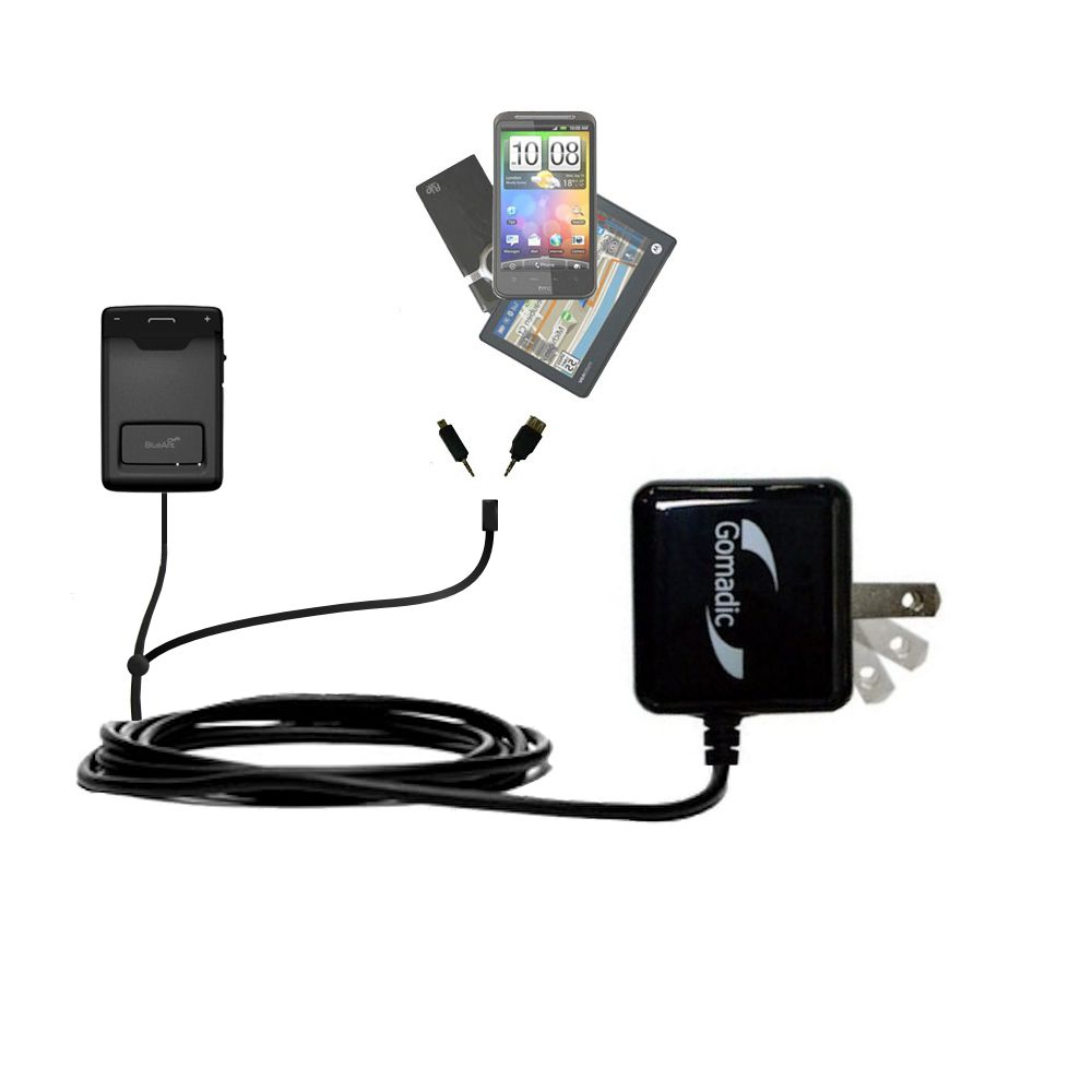 Double Wall Home Charger with tips including compatible with the BlueAnt Sense Speakerphone