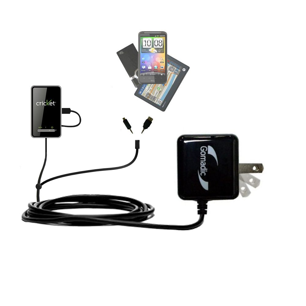 Double Wall Home Charger with tips including compatible with the Cricket Crosswave WiFi Hotspot
