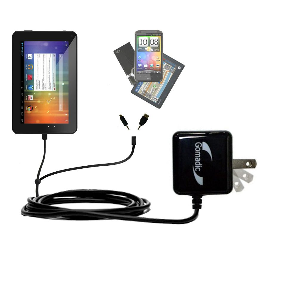 Double Wall Home Charger with tips including compatible with the Double Power DOPO EM63 7 inch tablet