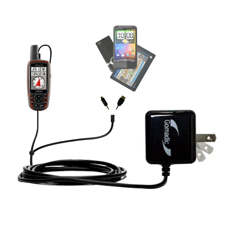 Double Wall Home Charger with tips including compatible with the Garmin  GPSMap 62