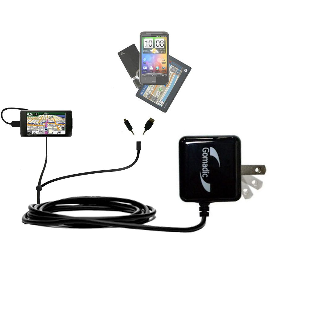 Double Wall Home Charger with tips including compatible with the Garmin 295W