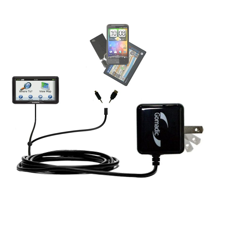 Double Wall Home Charger with tips including compatible with the Garmin dezl 760 LMT