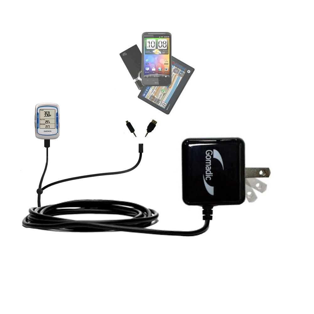 Double Wall Home Charger with tips including compatible with the Garmin EDGE 500