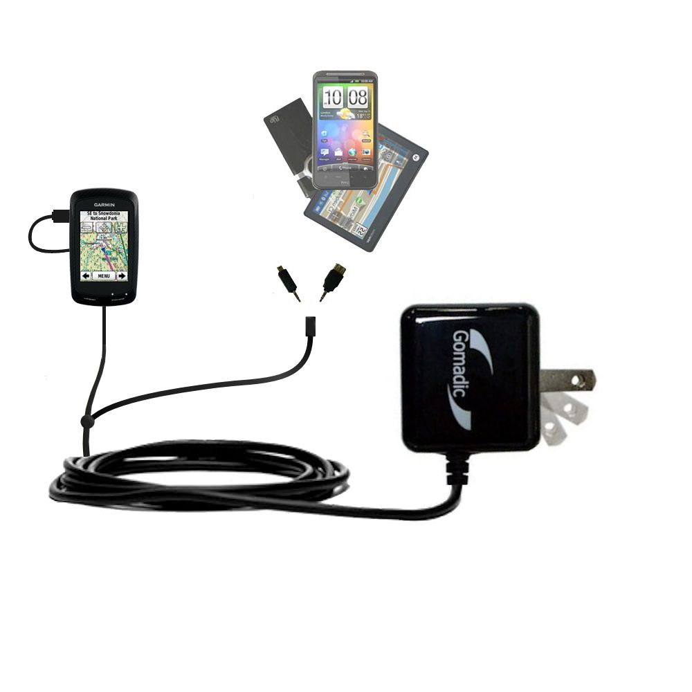 Double Wall Home Charger with tips including compatible with the Garmin Edge 800