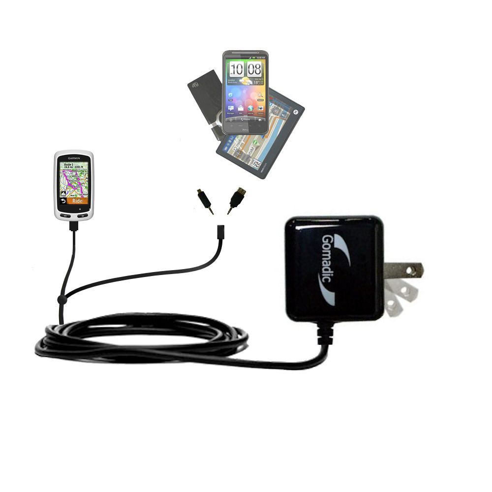 Double Wall Home Charger with tips including compatible with the Garmin EDGE Touring Plus