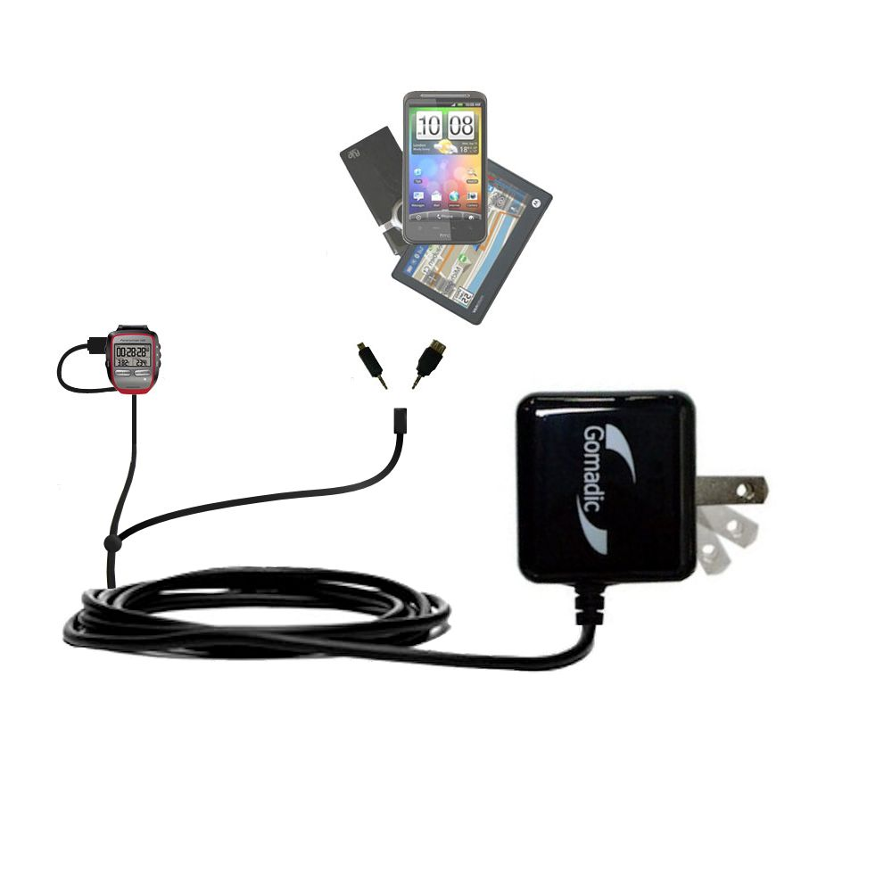 Double Wall Home Charger with tips including compatible with the Garmin Forerunner 205