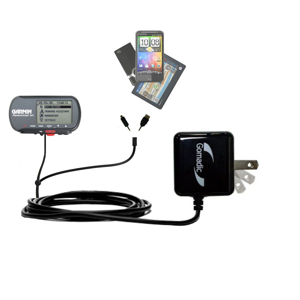 Double Wall Home Charger with tips including compatible with the Garmin Forerunner 301