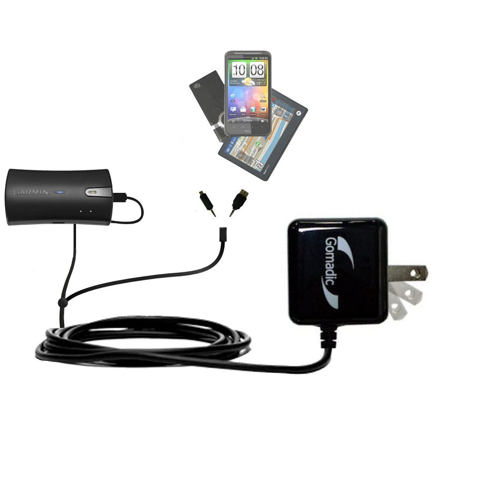 Double Wall Home Charger with tips including compatible with the Garmin GLO