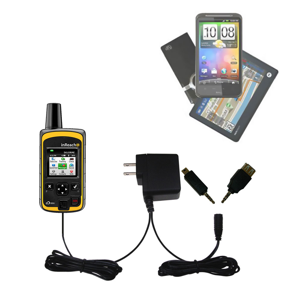 Double Wall Home Charger with tips including compatible with the Garmin inReach Explorer+