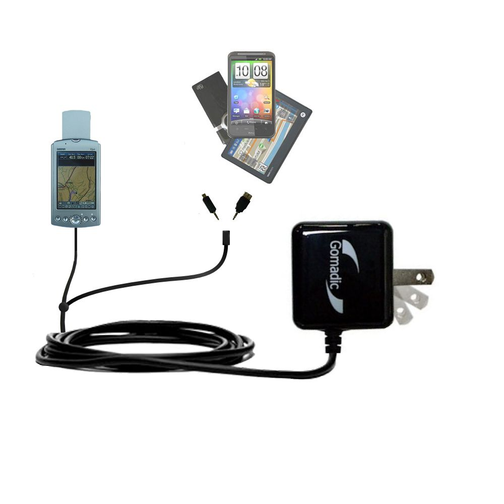 Double Wall Home Charger with tips including compatible with the Garmin iQue 3600