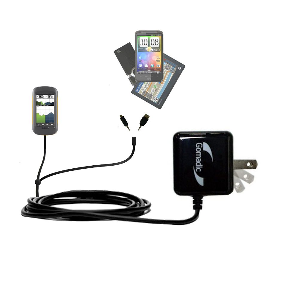 Double Wall Home Charger with tips including compatible with the Garmin Montana 600 650 650t