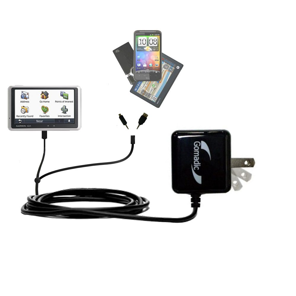 Double Wall Home Charger with tips including compatible with the Garmin Nuvi 1300