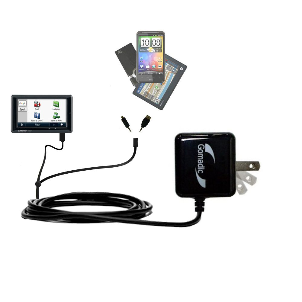 Double Wall Home Charger with tips including compatible with the Garmin Nuvi 1690 1695