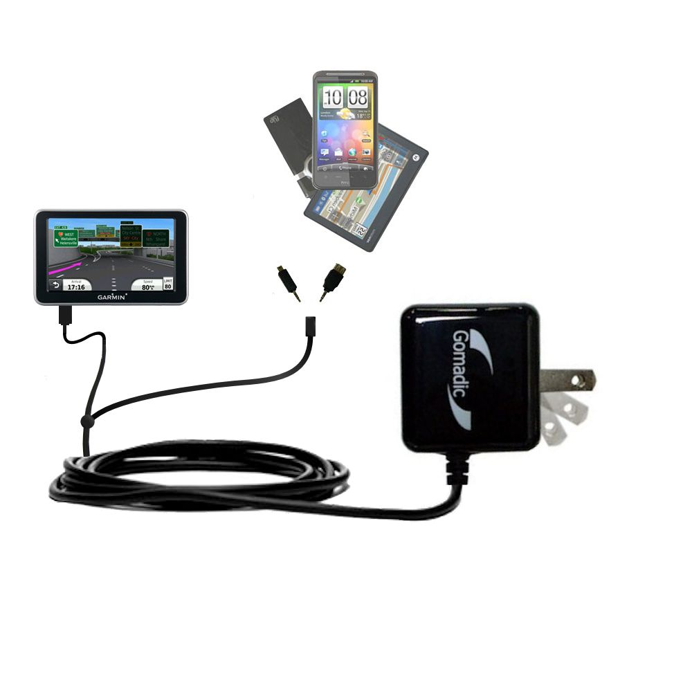 Double Wall Home Charger with tips including compatible with the Garmin Nuvi 2450