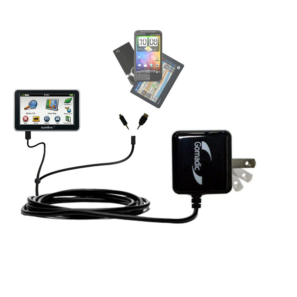 Double Wall Home Charger with tips including compatible with the Garmin Nuvi 2460 2450