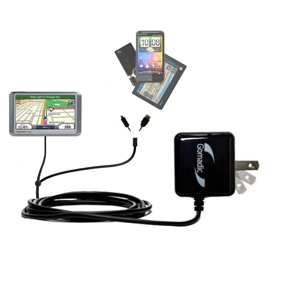 Double Wall Home Charger with tips including compatible with the Garmin Nuvi 265T