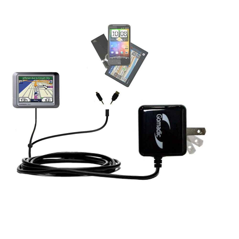 Double Wall Home Charger with tips including compatible with the Garmin Nuvi 275T
