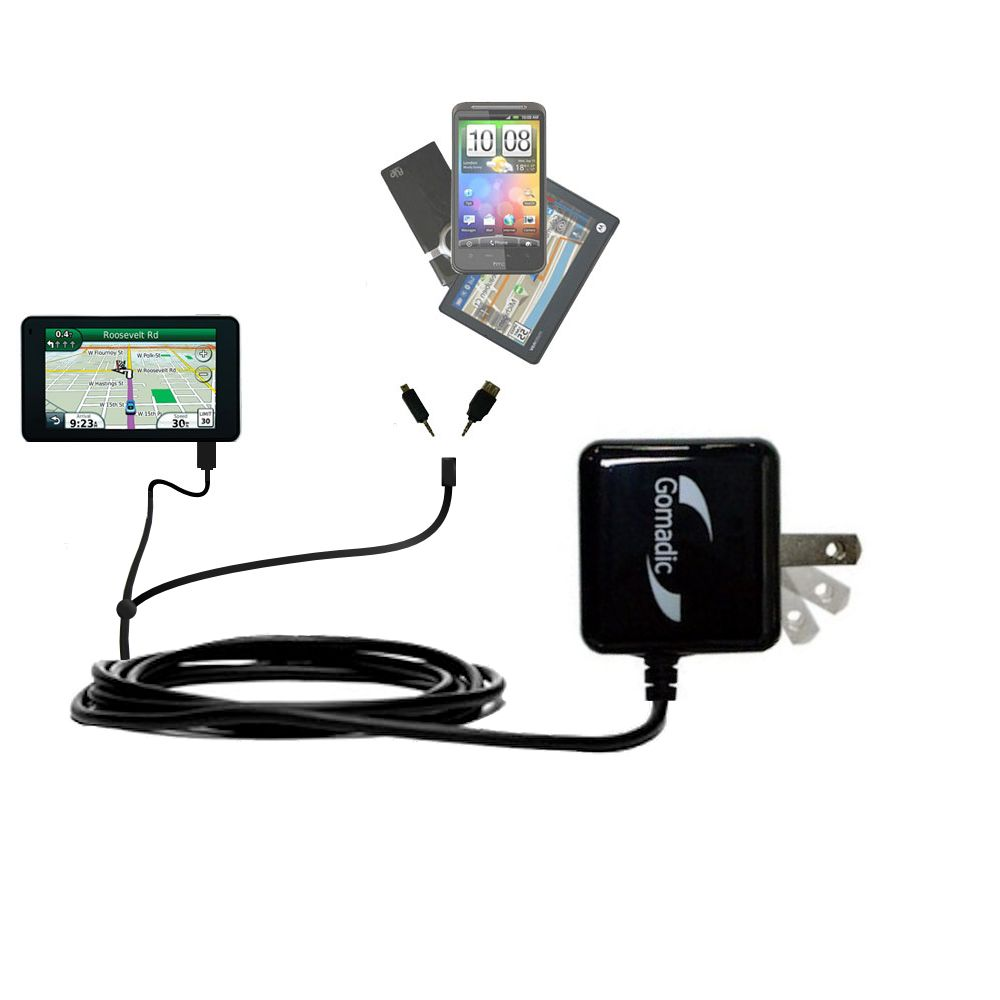 Double Wall Home Charger with tips including compatible with the Garmin Nuvi 3750