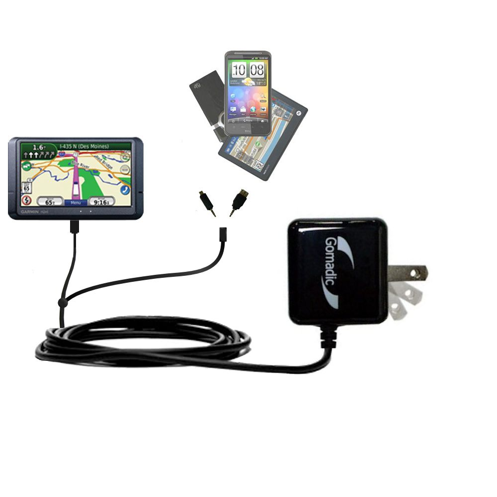 Double Wall Home Charger with tips including compatible with the Garmin Nuvi 465T 465LMT