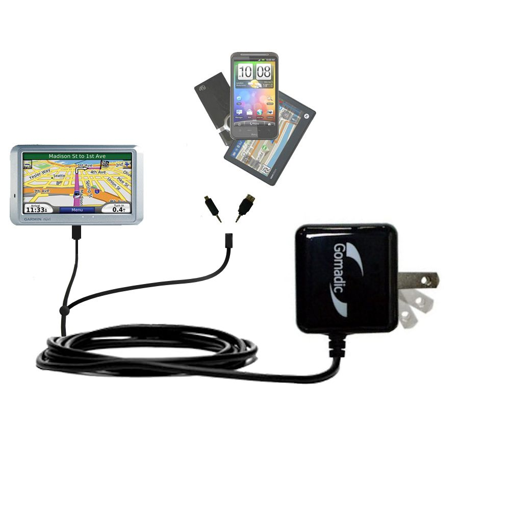 Double Wall Home Charger with tips including compatible with the Garmin Nuvi 710