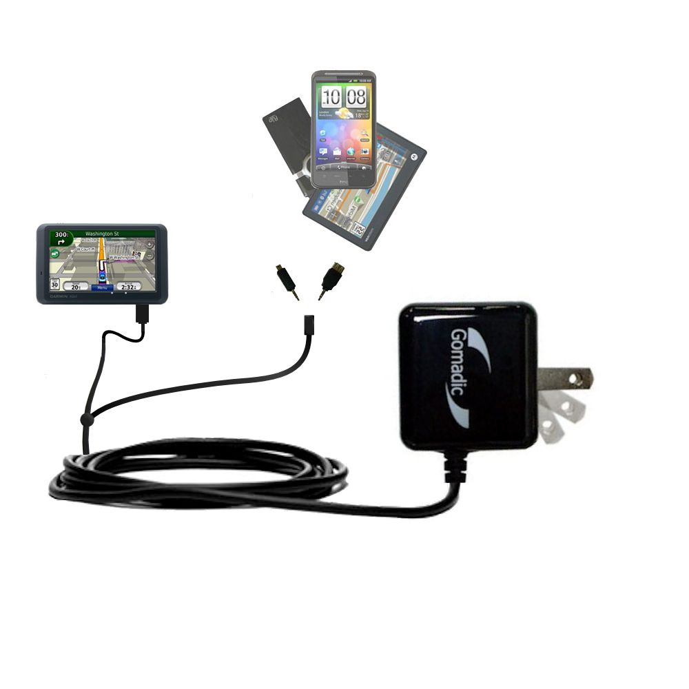 Double Wall Home Charger with tips including compatible with the Garmin Nuvi 755T