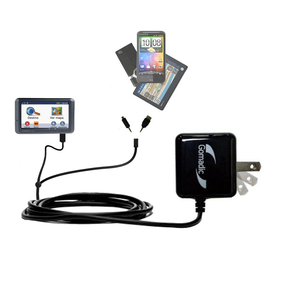 Double Wall Home Charger with tips including compatible with the Garmin Nuvi 770
