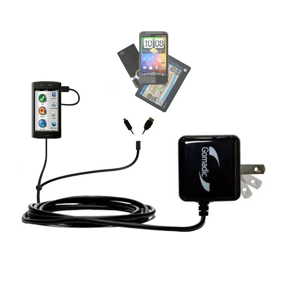 Double Wall Home Charger with tips including compatible with the Garmin Nuvifone G60