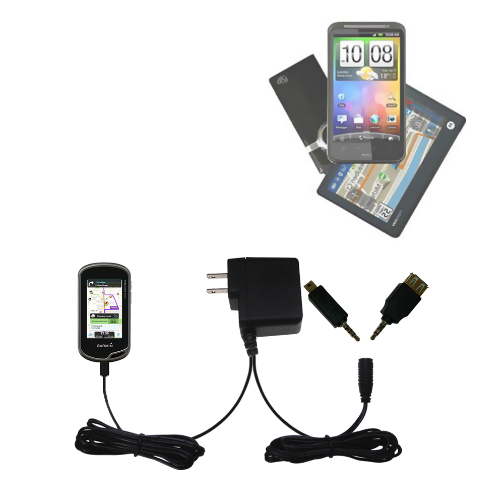 Double Wall Home Charger with tips including compatible with the Garmin Oregon 600 / 650 / 650t
