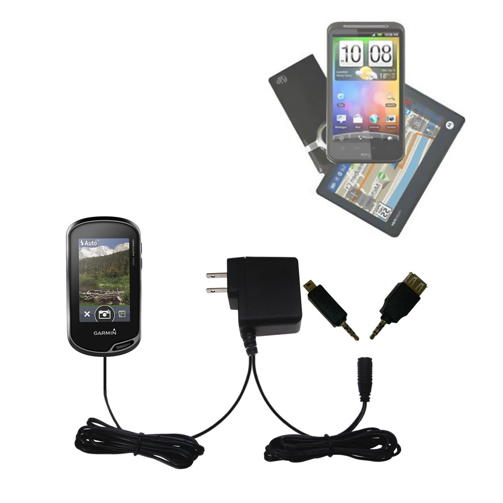Double Wall Home Charger with tips including compatible with the Garmin Oregon 700
