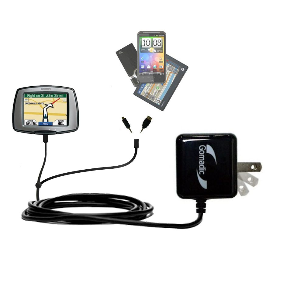 Double Wall Home Charger with tips including compatible with the Garmin StreetPilot C310