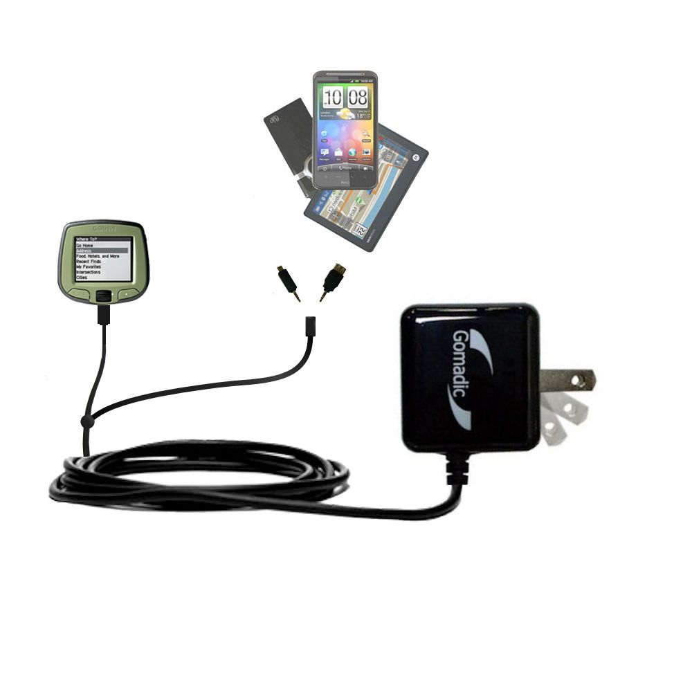 Double Wall Home Charger with tips including compatible with the Garmin StreetPilot i2 i3 i5