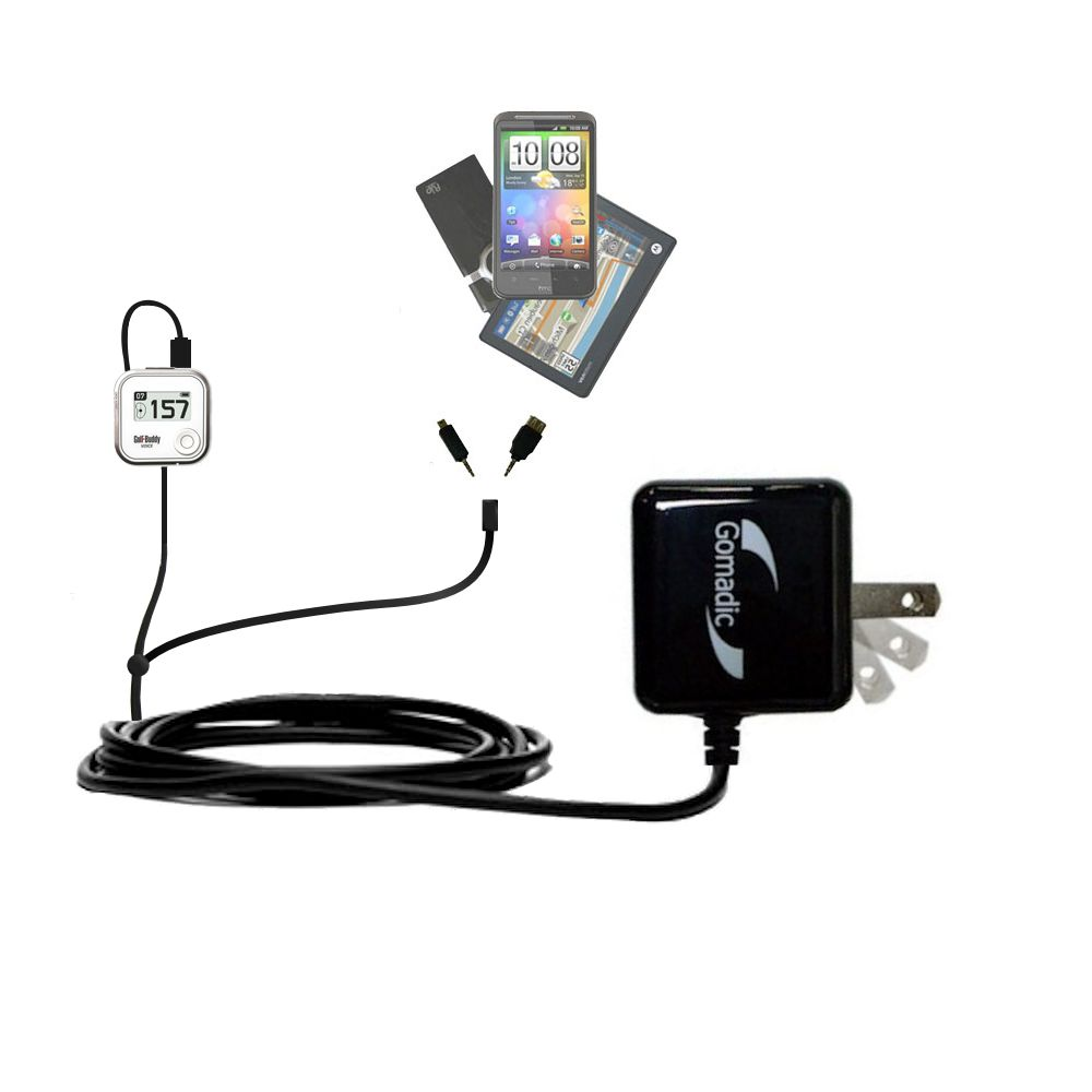 Double Wall Home Charger with tips including compatible with the Golf Buddy Voice GPS Rangefinder