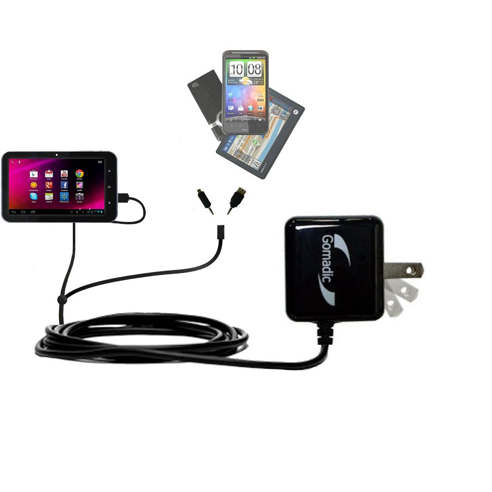 Double Wall Home Charger with tips including compatible with the HKC 7 Tablet P771A