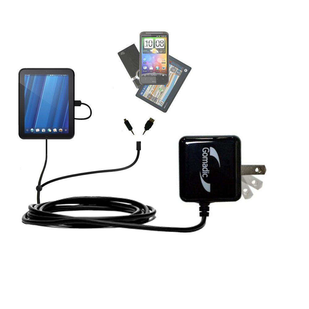 Double Wall Home Charger with tips including compatible with the HP TouchPad