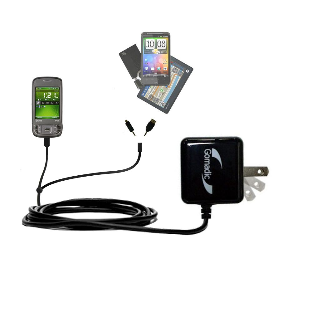 Double Wall Home Charger with tips including compatible with the HTC 8925