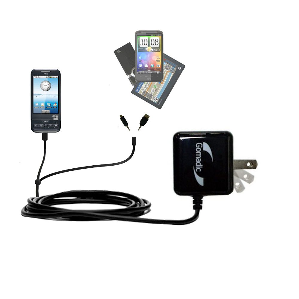 Double Wall Home Charger with tips including compatible with the HTC Dream