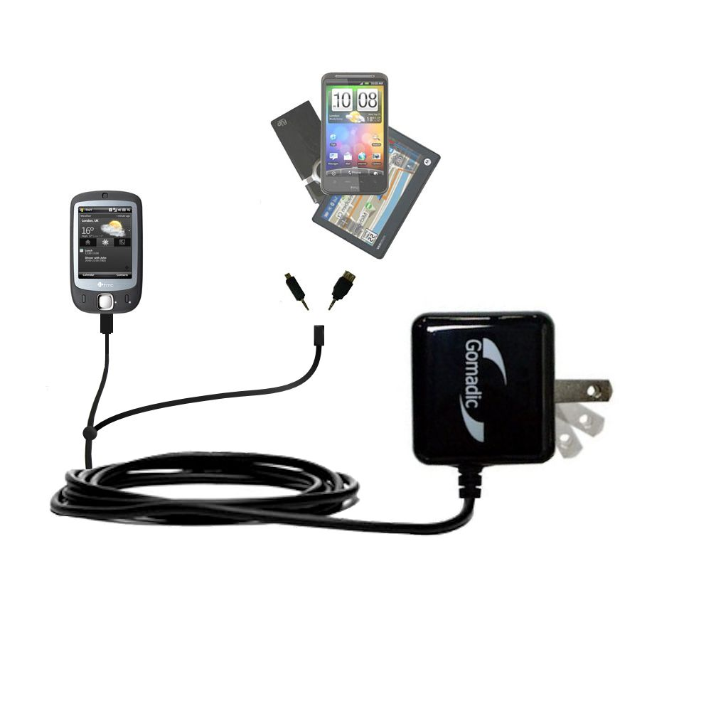 Double Wall Home Charger with tips including compatible with the HTC ELF
