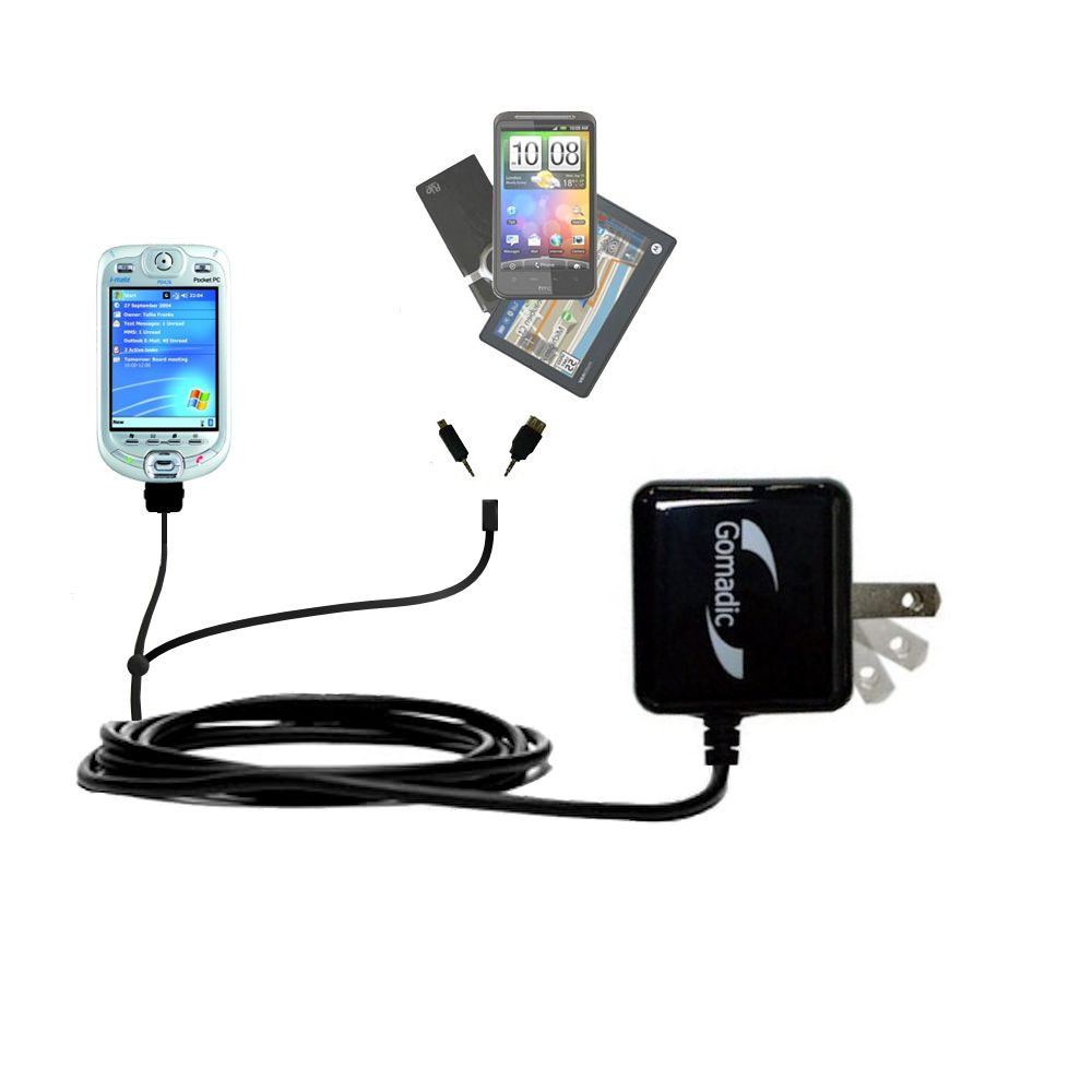 Double Wall Home Charger with tips including compatible with the HTC Harrier Smartphone